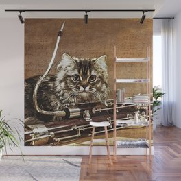 Music was my first love - cat and bassoon Wall Mural