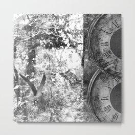 As Time Flies it Dissolves  Metal Print
