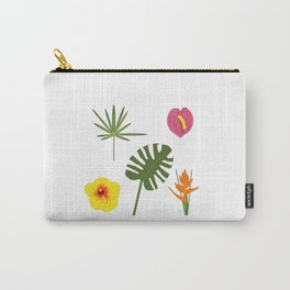 Jungle / Tropical Pattern in white Carry-All Pouch