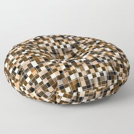 Beige, white, black, brown mosaic. Floor Pillow