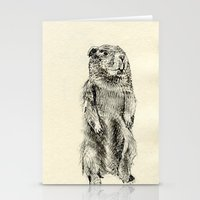 beaver Stationery Cards featuring Beaver by Amy Veried