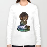 buddah Long Sleeve T-shirts featuring Buddah - San Francisco Japanese Tea Garden by kreatox