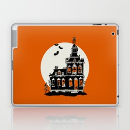 Vintage Style Haunted House - Happy Halloween Laptop & iPad Skin