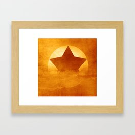 Start Composition Framed Art Print