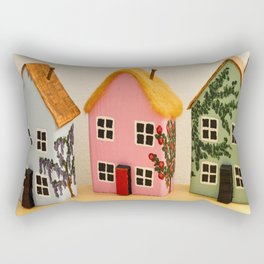 Cornish Cottages Rectangular Pillow