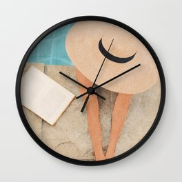 On the edge of the Pool II Wall Clock