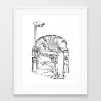 boba Framed Art Prints featuring Boba by Max McMax