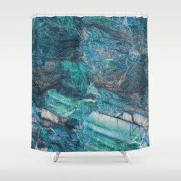 Siena turchese - blue marble Shower Curtain