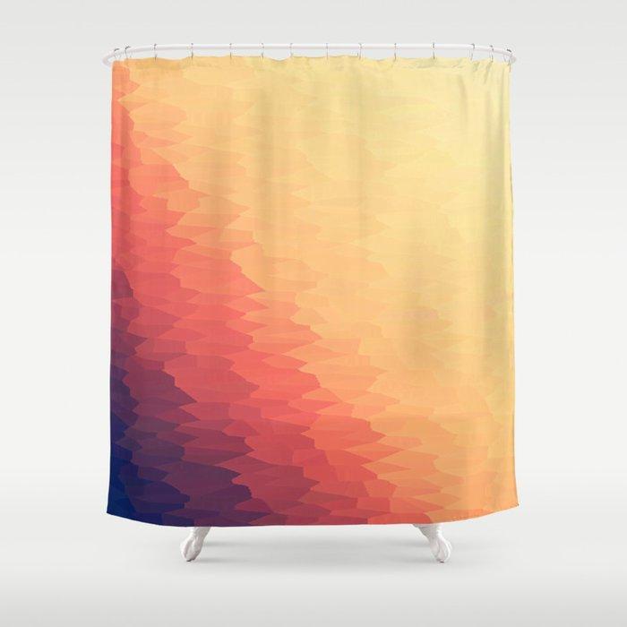 Orange Peach Ombre Shower Curtain
