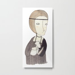 Lady with an Ermine Metal Print