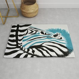 punk rock zebra Rug