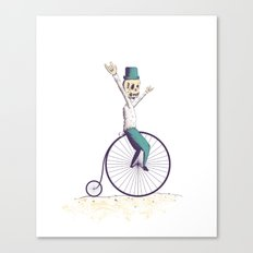 Let's ride Penny-farthing Canvas Print