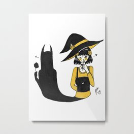 Inktober 2019 - Day 23 - Summon Witch Metal Print