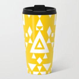 White + Yellow Travel Mug
