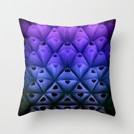 Neon Cones  Throw Pillow