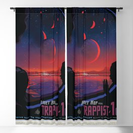 NASA Visions of the Future - Planet Hop from Trappist-1e Blackout Curtain