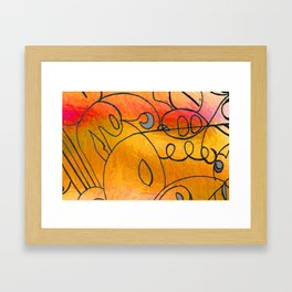 Curves at Sunset Framed Art Print