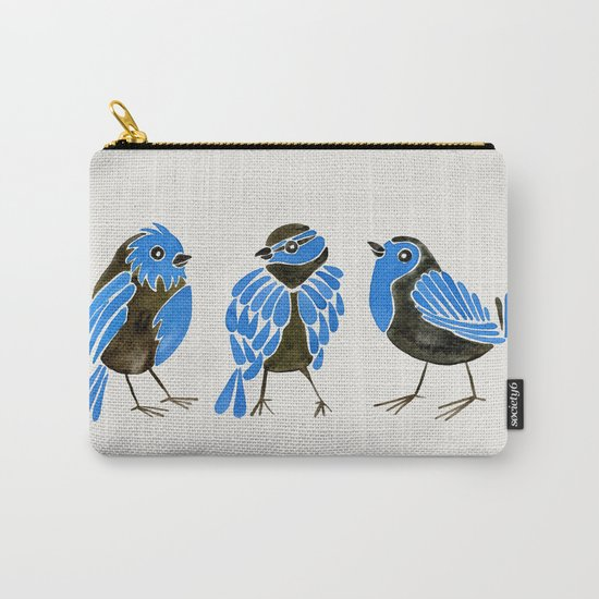 Blue Finches Carry-All Pouch