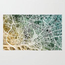 Hamburg Germany City Map Rug