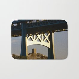 Sunset on the Robert F. Kennedy Bridge. New York. USA Bath Mat