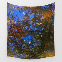 Rippled Water and Leaves 3 Wall Tapestry