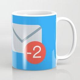 Unsociable - Minus Two Message Notifications Coffee Mug