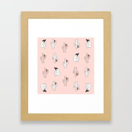 Cactus Ladies Framed Art Print
