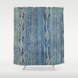 Ndop Cameroon West African Textile Print Shower Curtain