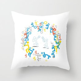 PLAY VOLLEY! Throw Pillow
