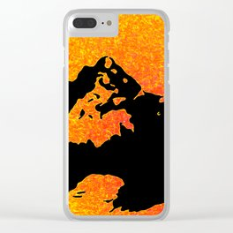 Steele Heart Clear iPhone Case