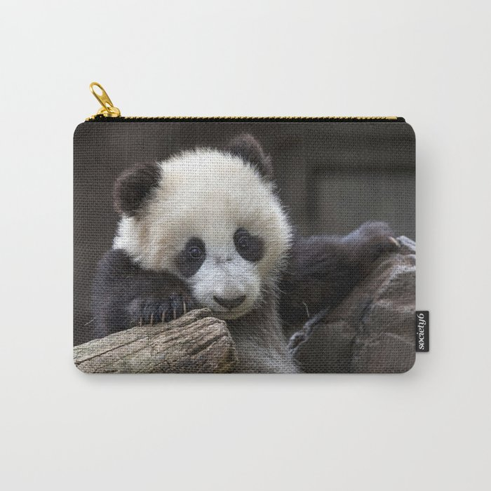 Baby panda climb a tree Carry-All Pouch