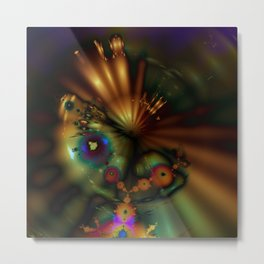 Melting Point Metal Print