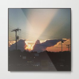 Sunset in Matthews, NC Metal Print