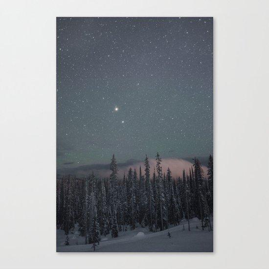 Big White Stars V Canvas Print