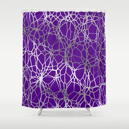 Pattern and Light purple silver Shower Curtain
