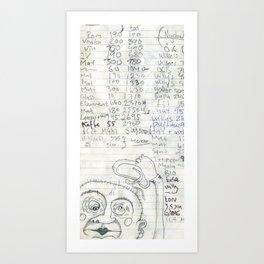 Lille-mask'n  Art Print