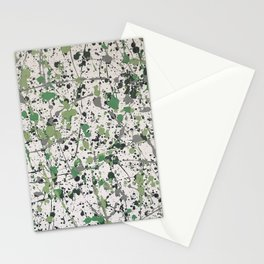 Galaxies of Green Stationery Cards