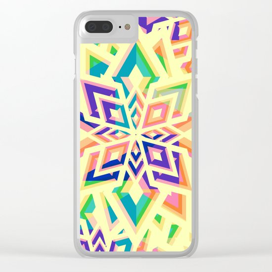 Decorative floral pattern for Christmas Clear iPhone Case