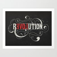 revolution Art Prints featuring Revolution by Mobe13