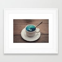 witchoria Framed Art Prints featuring Surf's Cup by witchoria