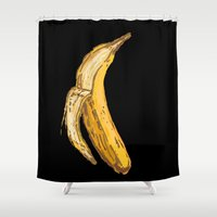 banana Shower Curtains featuring Banana by Ken Coleman