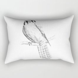 American Kestrel pencil front on Rectangular Pillow