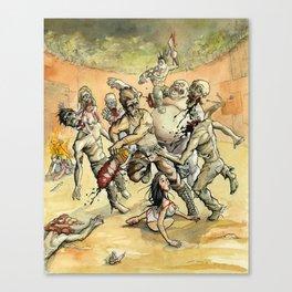 Zombie Head Hunters Canvas Print