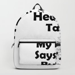 My Heart Say Tacos Gym - Fitness Gifts Backpack