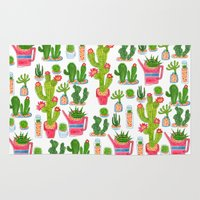 cactus Area & Throw Rugs featuring Cactus by Hui_Yuan-Chang
