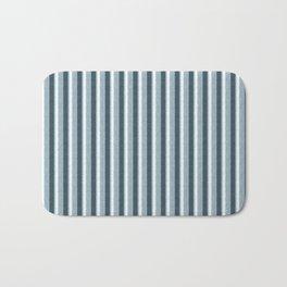 Light Blue and White Retro Vintage Grunge style pattern Bath Mat