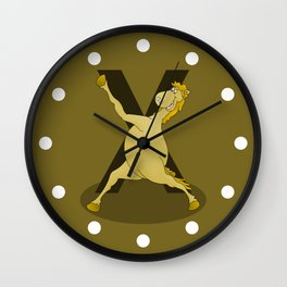 Monogram X Pony Wall Clock