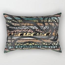 Trendy Tribal African Pattern Zebra Print Rectangular Pillow