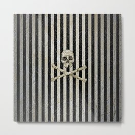 Pirate Stripes Metal Print