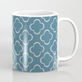 Quatrefoil BLue Coffee Mug